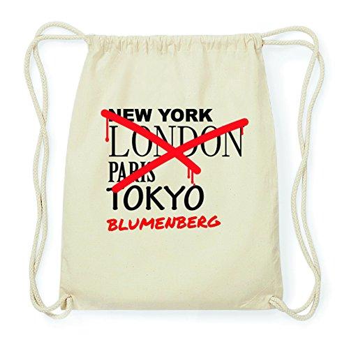 JOllify BLUMENBERG Hipster Turnbeutel Tasche Rucksack aus Baumwolle - Farbe: natur Design: Grafitti