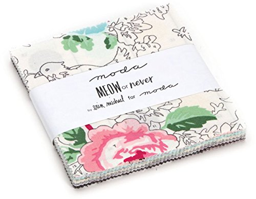 "Meow Or Never Charm Pack By Erin Michael; 42 - 5"" Precut ..."