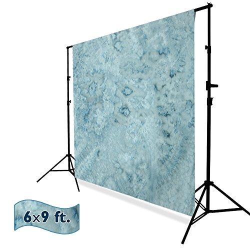 Julius Studio 6x9 ft. Tie Dye Pattern Steel Blue, Teal, Dark Cyan, Cloudy Sky, Cool Color, Chromakey Photo Video Studio Fabric Backdrop, Background Screen, Fabric Muslin, Photography Studio, JSAG203