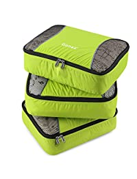 Gonex Packing Cubes Set 3PCs Travel Organizers Luggage Organizers Pouches (Light Green)