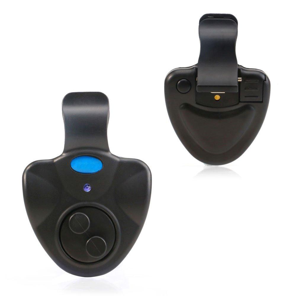 YYGIFT Best Sensetive Electronic Fishing Bite Alarm Indicator LED Sound Alert On Fishing Rod -Black