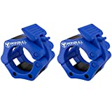 "Barbell Collars (Pair) – Locking 2"" Olympic Size Weight Clamps - Quick Release Collar Clips – Bar Clamps Great for Weight Lifting, Olympic Lifts and Strength Training"