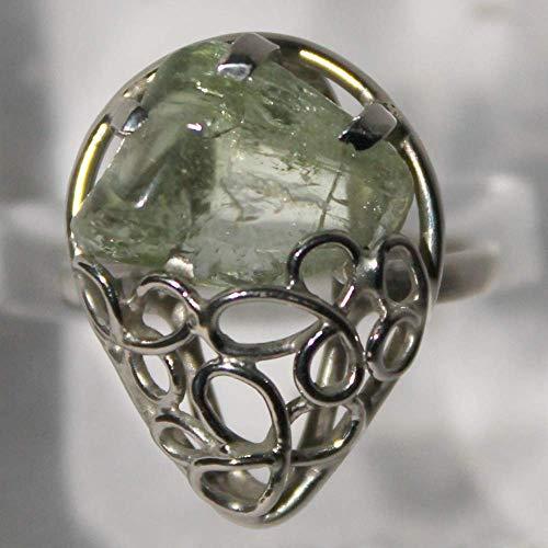 Heliodor ring, yellow beryl ring, 7 size ring