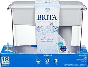 Brita Large 18 Cup UltraMax Water Dispenser and Filter - BPA Free - White