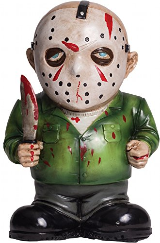 Morbid Enterprises Jason Boorhees Lawn Gnome, Green/Black/White/Red/Blue/Silver, One