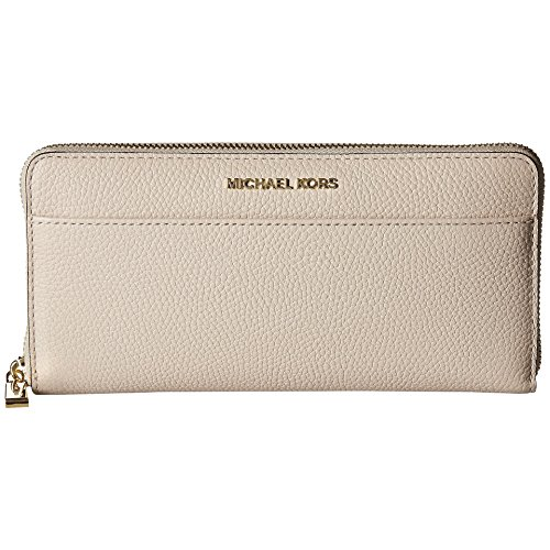 Michael Kors Soft Pink Pebbled Leather Mercer Pocket Zip Around Continental Wallet by Michael Kors