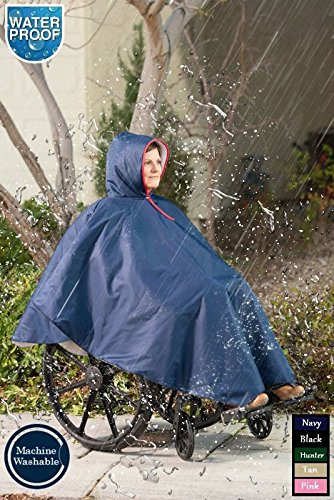 CareActive 9660-0-TAN Wheelchair Rain Poncho-Tan