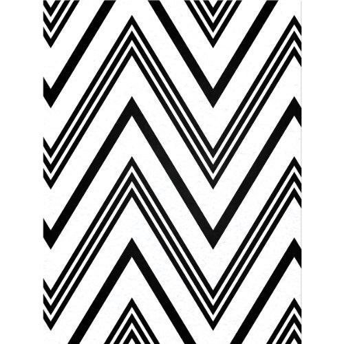 Kunin Fanci Felt Sheet, 9 by 12-Inch, Chevron White with Black Flock, 24-Pack