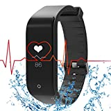 Fitness Tracker Heart Rate Monitor RIVERSONG Smart Bracelet Bluetooth 4.0 Sleep tracker Step Distance Calorie Counter Pedometer Sport Activity Tracker Smartband for iPhone Android Smartphones