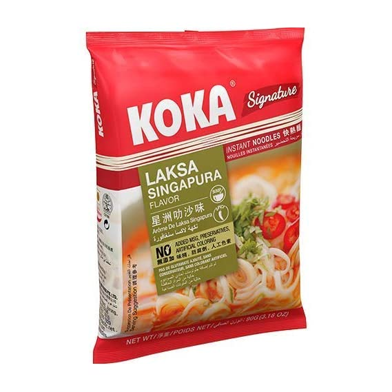 KOKA Signature Laksa Singapura Noodles(85g x 4 Packs)
