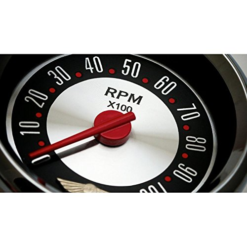 Red Ring Face, Red Modern Needles, Black Bezels Aurora Instruments 2382 American Retro Rodder Assembled Oil Pressure Gauge