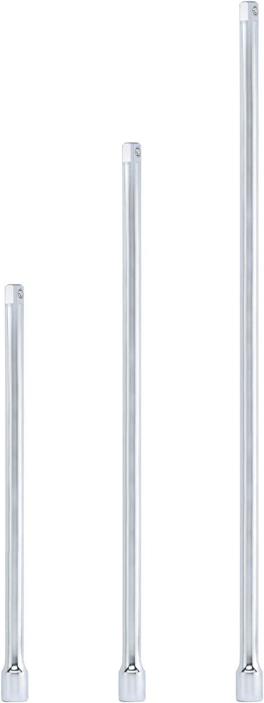 "Tooluxe 00216L 1/2"" Drive Ultra Long Extension Bar Set, 3 Piece | 18"", 24"", 30"" | Chrome-Vanadium Steel"