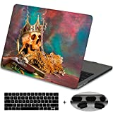 : MacBook Pro 13 Case 2017 & 2016 Release A1706,Mektron Rubberized Print Hard Case with Dust Plug & Keyboard Cover For MacBook Pro 13-inch with Touch Bar,Skull Treasure