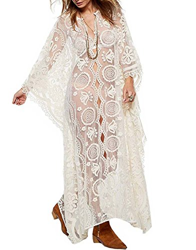 Vivilover Womens Lace Beach Dress Swimsuit Coverup for sale  Delivered anywhere in USA