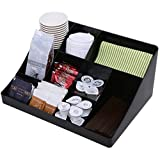 "Vencer ""Cuby"" 10 Compartment Condiment Holder, Coffee and Tea Bag Organizer, Black"