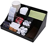 Vencer''Cuby'' Breakroom 10 Compartment Condiment Holder,Coffee and Tea Bag Organizer,Black,VCO-001