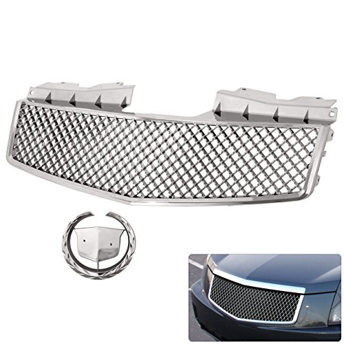 nt Bumper Upper Center Hood Abs Chrome Badgeless Grille Replacement Upgrade ()
