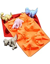 FantasyDay Premium Dinosaur Soap Mold Silicone Mold Cookie Mold for Your Birthday Cake, Soap, Donut, Ice Cube, Muffin, Brownie, Cornbread, Cheesecake More #2