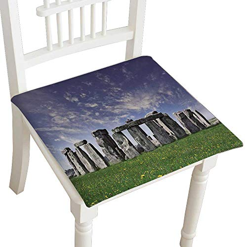 Ties Stonehenge - HuaWuhome Chair Seat Pads Cushions Mysterious Stonehenge in UK Square Car and Chair Cushion/Pad with Ties, Soft, for Indoors Or Outdoor 24