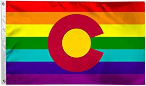 Colorado Flag LGBT Love is Love Flags 3X5 Foot Durable Fade Resistant Lightweight Polyester Banner