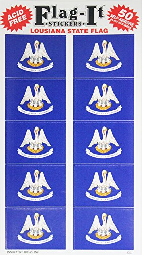 - Louisiana - State Stickers (50 Pack)
