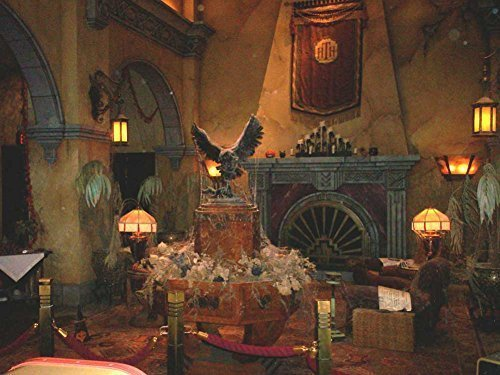 Arts Language Lobby of Hollywood Tower Hotel Oil Painting Artworks On Canvas Wall Art Pictures for Office Home Decoration(16 x 20 inch,Frameless)