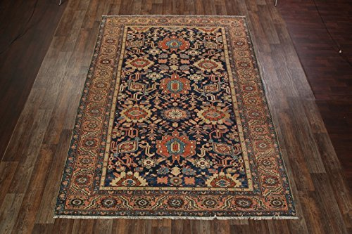 Pre-1900 Antique 9x12 Heriz Serapi Antique Hand Made Persian Area Rug (12' 1'' x 8' 6'')