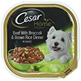 Cesar Home Delights Beef With Broccoli & Brown Rice Dinner Wet Dog Food Trays 3.5 Oz. (Pack Of 24)