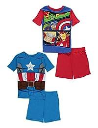 "Avengers Big Boys' ""Captain & Friends"" 2-Pack Pajamas"