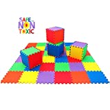 Toys : NON-TOXIC Extra-Thick 36 Piece Children Play & Exercise Mat - Comfortable Cushiony Foam Floor Puzzle Mat, 6 Vibrant Colors for Kids & Toddlers