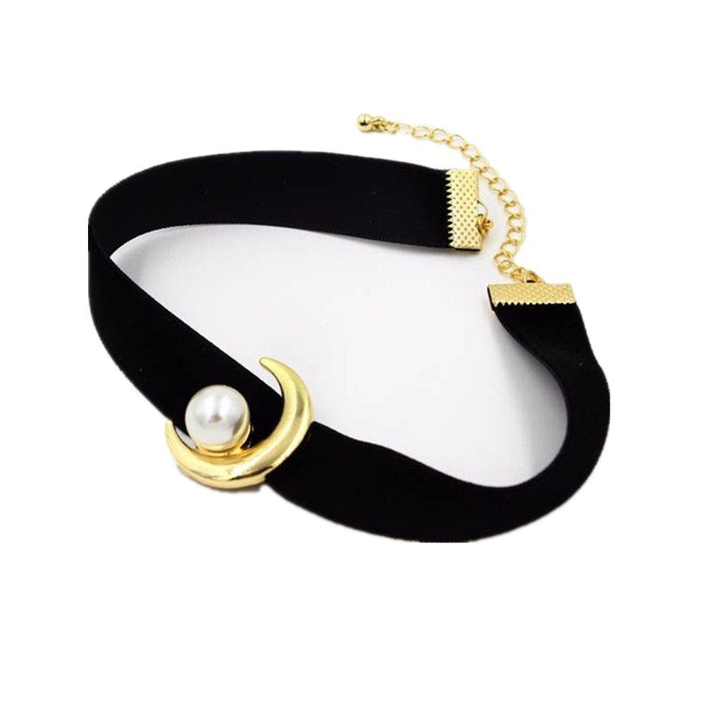 Acccity Sailor Moon Velvet Choker Collar Necklaces (Black)