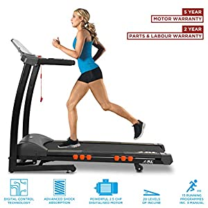 JLL S300 Digital Folding Treadmill, 2019 New Generation Digital Control 4.5HP Motor, 20 Incline Levels, 0.3km/h - 16km/h… 2