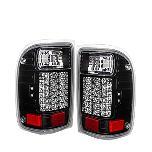 Fit 2001-2011 Ford Ranger (No Fit STX Models) Led Tail Lights Black Housing/Clear Lens