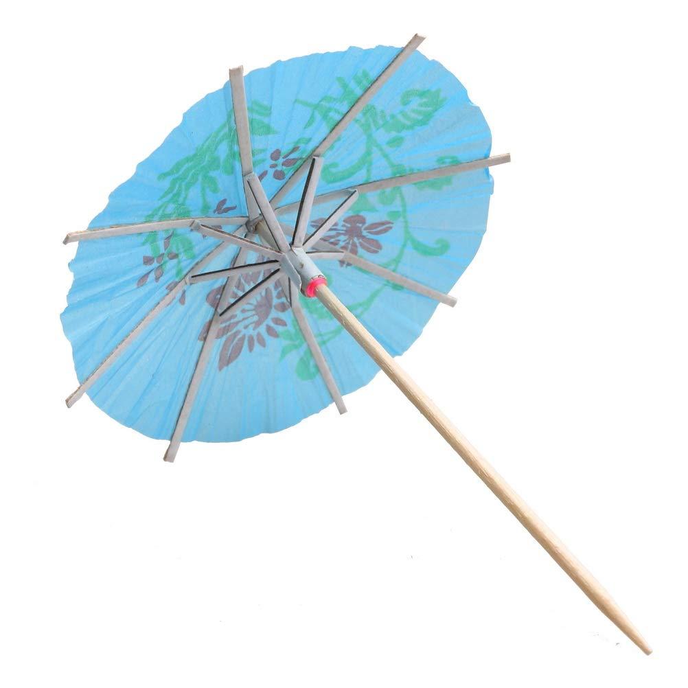 Mixed Colours Cocktail Decoration Paper Parasols Umbrellas for Cocktail Accessories nuoshen 50 pcs Cocktail Tropical