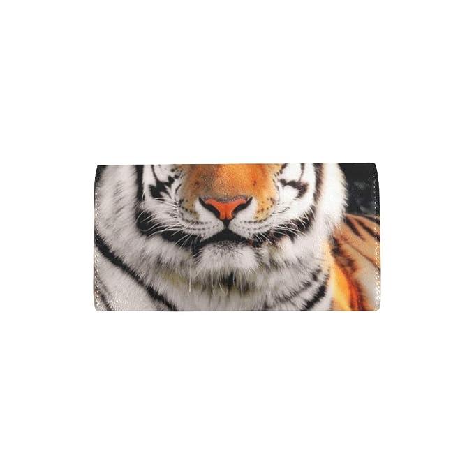 Único Personalizado Amur Tiger Mujeres Billetera Triple ...