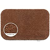 Hug Rug 50x75cm Spanish Brown Flecked Indoor Barrier Mat, Highly Absorbent and Machine Washable by HUG RUG