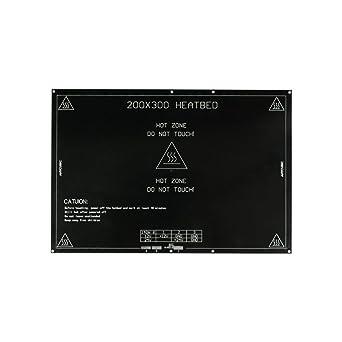 TriGorilla Aluminio MK3 Cama Caliente Heatbed 300 * 200 * 3 mm de ...