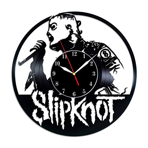 (Slipknot vinyl wall clock home art decor American Heavy Metal Band birthday gifts gift idea for him and her Christmas gift)