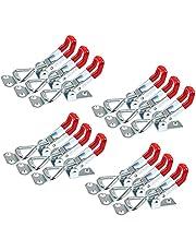 GH-4001 Spansluitingen, 12 stuks, instelbare kniehendelspanner, kleine hefboomsluiting, laadcapaciteit tot 100 kg, metalen kniehendelspanner, veiligheidsgesp