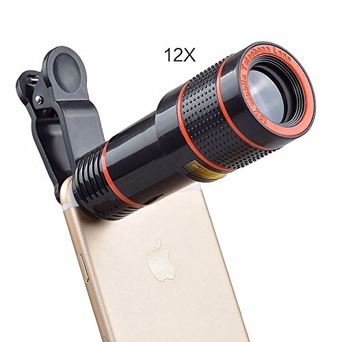 12x Zoom Optical Mobile Phone Telescope Lens Monocular Telescope for Mobile Phone with Universal Clip