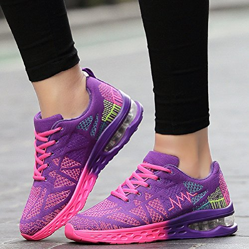 Sport Air Deportes Unisexo Zapatos Libre Running Cushion Fitness al Shoes Lightweight Púrpura Aire aSxAqTt