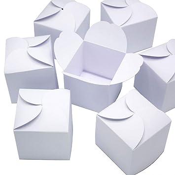 24 Weiße Geschenkboxen I Do It Yourself Adventskalender I Set Kleine