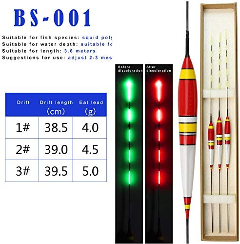 Luminous Fishing LED Bobbers Smart Discoloration Float Drift Fishing Floats DE