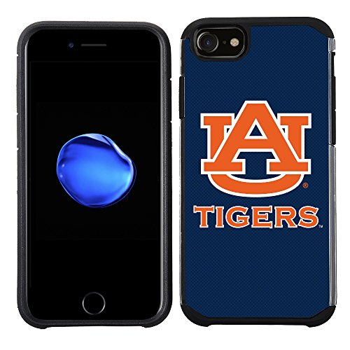Auburn Tigers Cell Phone Case (Prime Brands Group Textured Team Color Cell Phone Case for Apple iPhone 8/7/6S/6 - NCAA Licensed Auburn University Tigers)