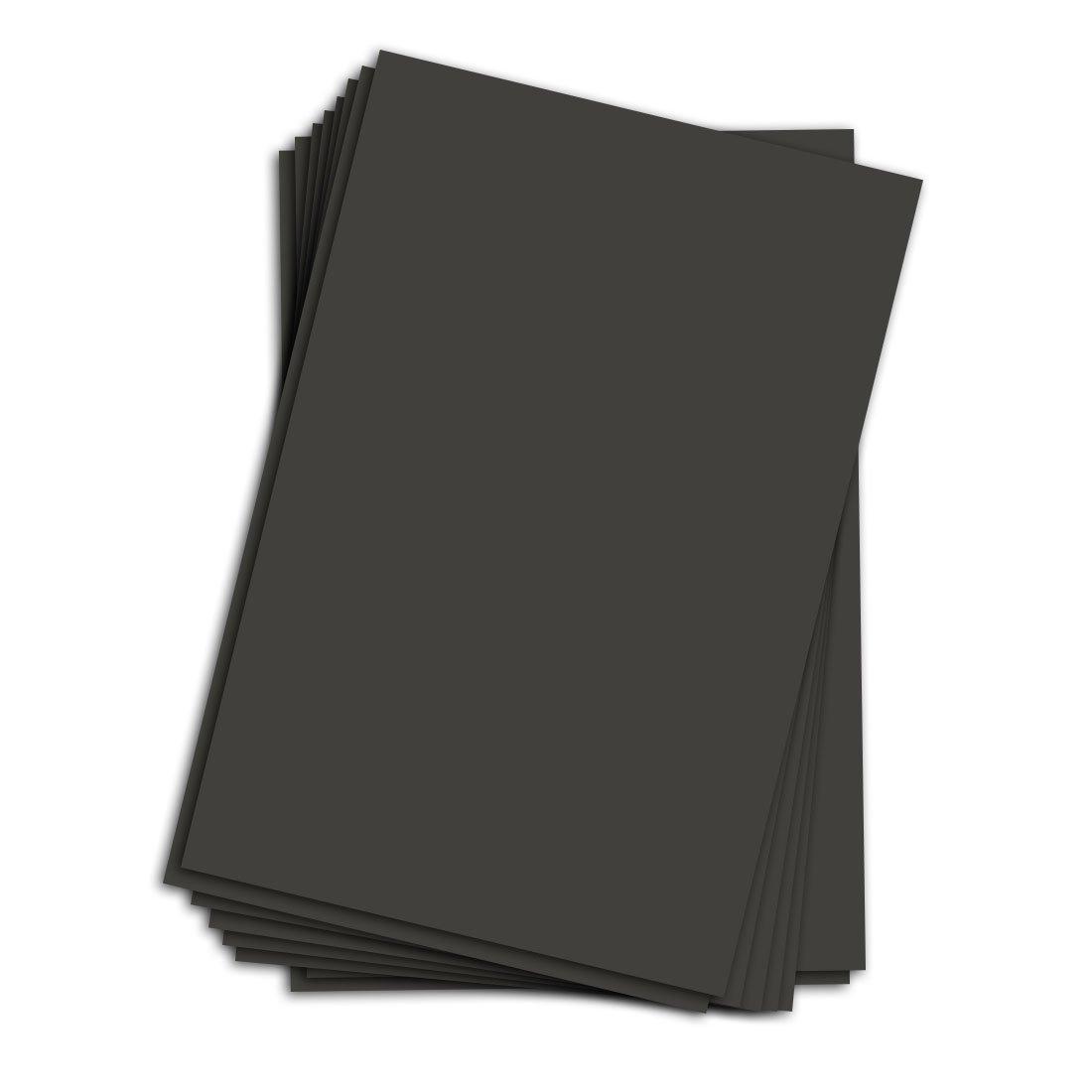 11'' X 17'' Black Chipboard - Cardboard Medium Weight Chipboard Sheets - 25 Per Pack.