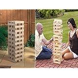 GIANT JENGA TOWER BLOCKS WOODEN TUMBLING 1.2M GARDEN GAME OUTDOOR FAMILY FUN