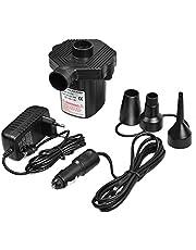 Elektrische Luftpumpe, Chenci Elektropumpe Power Pump mit 3 Luftdüse für aufblasbare Matratze, Kissen, Bett, Boot, Schwimmring, DC12V/AC220V