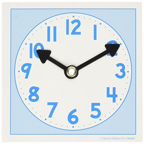 Ideal School Supply Clock Dial, Small (Hands Clock Teaching)