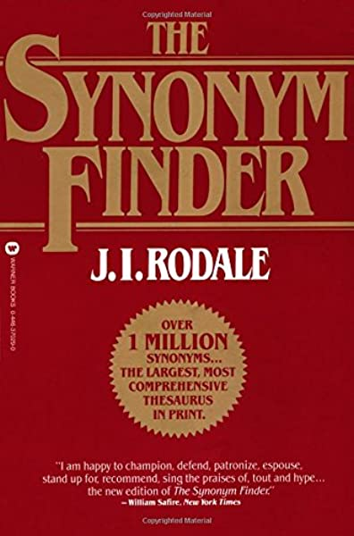 The Synonym Finder J I Rodale 9780446370295 Amazon Com Books Synonyms for conclude in english including definitions, and related words. the synonym finder j i rodale
