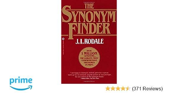The Synonym Finder Ji Rodale 9780446370295 Amazoncom Books